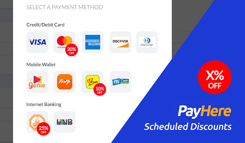 PayHere Scheduled Discounts