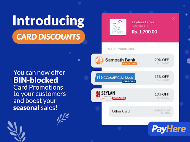 bin blocked discounts by PayHere